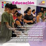 Gobierno de Los Cabos ha erogado casi $20 millones de pesos en becas para el sector estudiantil