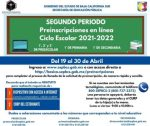 INICIA SEP SEGUNDO PERIODO DE PREINSCRIPCIONES EN LÍNEA PARA INGRESO A EDUCACIÓN BÁSICA