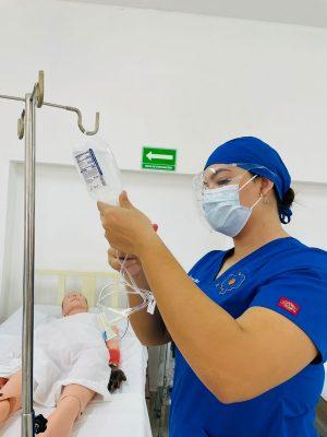 Estudiantes de Enfermería de UNIPAZ regresan a prácticas de laboratorio