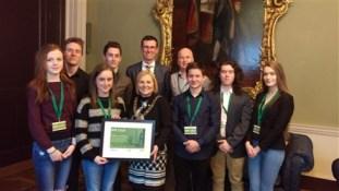 Mayor of Dublin presents TY students