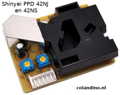 Shinyei PPD 42NJ en 42NS (Particle Sensor Unit)