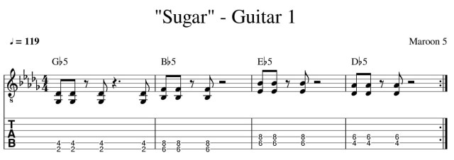 sugar maroon 5 guitar lesson tab chords how to play guitar lessons online colchester essex guitar 1