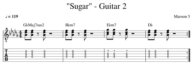 sugar maroon 5 guitar lesson tab chords how to play guitar lessons online colchester essex guitar 2
