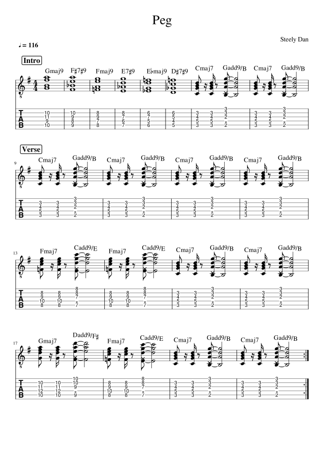 peg steely dan guitar tab