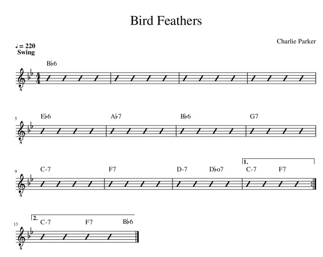 bird feathers charlie parker chord chart