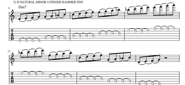 Exercise #3 legato left hand technique guitar lesson