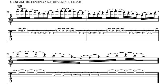 A natural minor legato guitar lesson