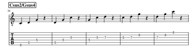 csus2 gsus4 triads guitar