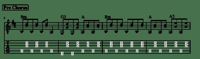 delilah pre chorus tab