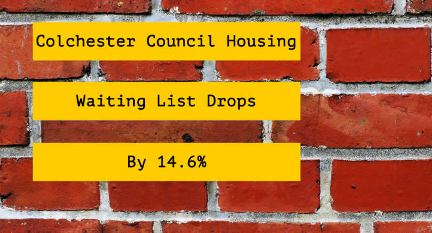 Colchester Council House Waiting List Drops 14.6% Over Last 4 Years