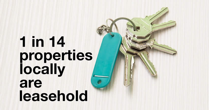 Colchester Leasehold Properties Now 1 in 14
