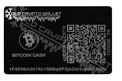 Portfel Bitcoin Cash Polski - przód