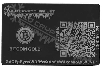 Portfel Bitcoin Gold Angielski - przód