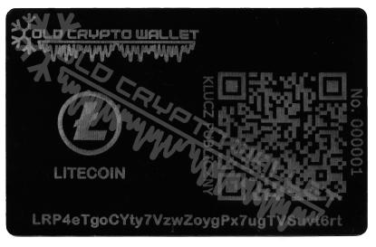 Portfel Litecoin Polski - przód
