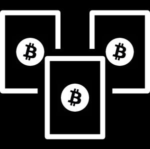Zestaw trzech zimnych portfeli Bitcoin - BTC