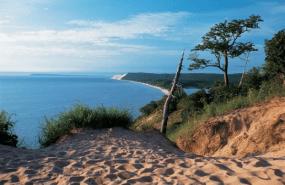 Lake Michigan, the northern peninsula