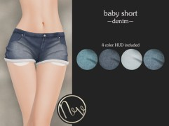 Neve Short - Baby - Denim