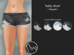 Neve Short - Baby - Frayed