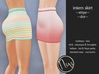 Neve Skirt - Intern - Stripe + Dot