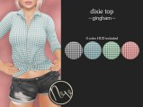 Neve Top - Dixie - Gingham