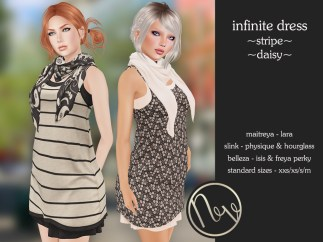 Neve Dress - Infinite - Stripe + Daisy