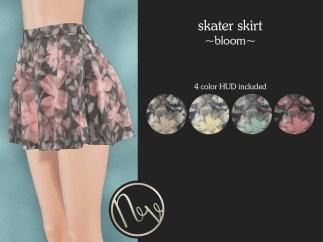 Neve Skirt - Skater - Bloom