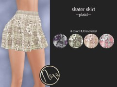 Neve Skirt - Skater - Plaid
