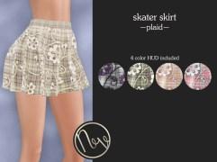 Neve Skirt - Skater - Plaid