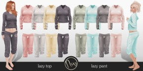 Neve - Relax Top + Pants - Messy + Love