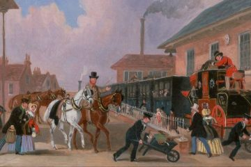 James_Pollard_-_The_Louth-London_Royal_Mail_Travelling_by_Train_from_Peterborough_East,_Northamptonshire_Des Esseintes' Visit to London