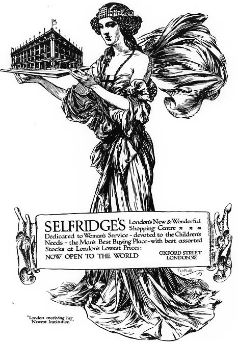 1200827_Selfridges_One_of_the_press_advertisements_from_the_opening_week_in_March_1909