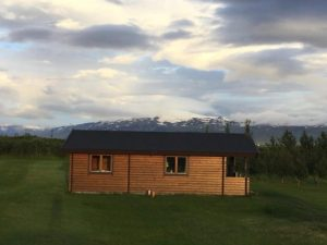 Eijafjallajokull with log cabin in the foreground
