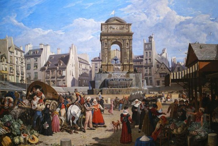 """Market of Sant Innocents,"" by John James Chalon (1822)"