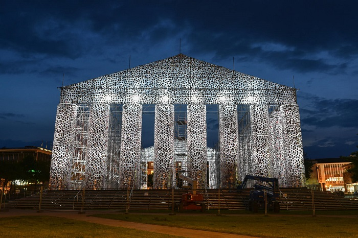 The Parthenon of Banned Books at Germany's Art Festival