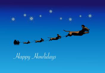 Christmas Wiener dogs