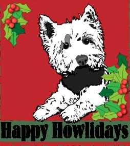 Scottie Holiday Dog