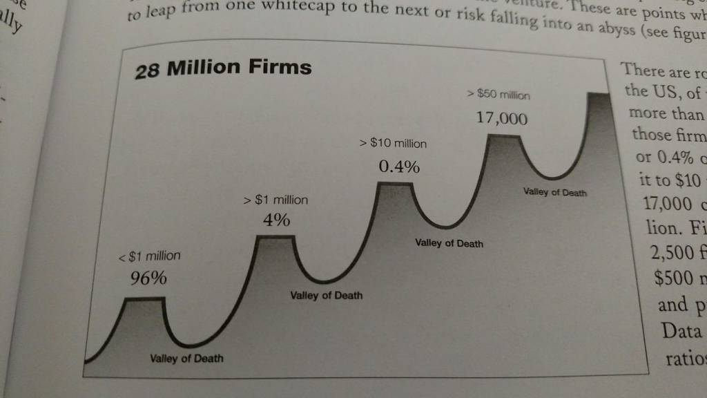 verne harnish on scaling valley of death valleys of death