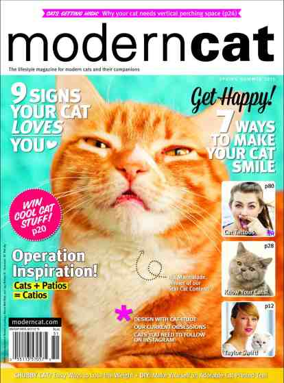 Marm on the cover of Modern Cat