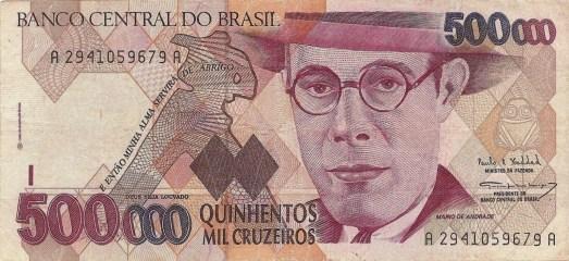500000 Cruzeiros 1993 Mario de Andrade