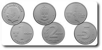 Formgivningsförslag av nya mynt Formgivare: Vladimir A Sagerlund