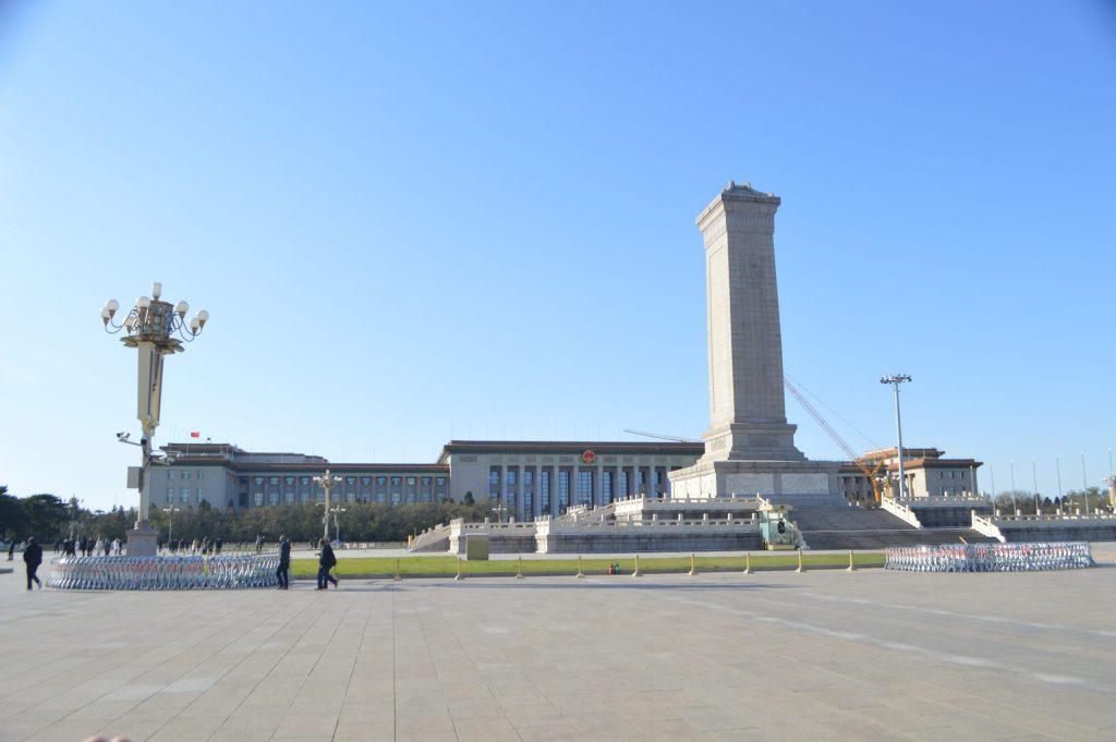 Monumento a los Héroes del Pueblo y Mausoleo de Mao Zedong en Tiananmén