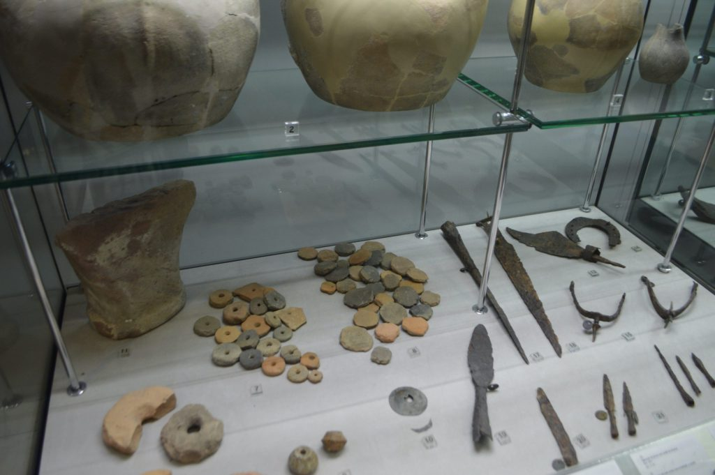 Utensilios romanos en el Museo Estatal de San Marino