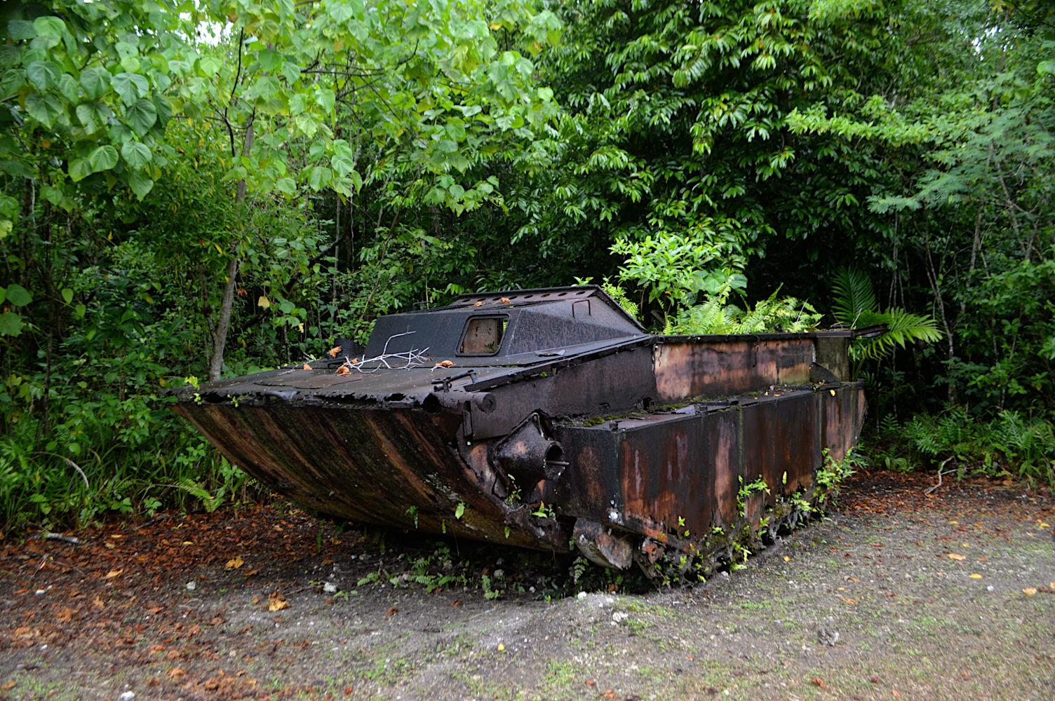Dos tanques anfibios de la Segunda Guerra Mundial