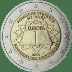 Moneda Conmemorativa de 2 Euros de Alemania 2007 - Conmemorativa Común por el 50 Aniversario del Tratado de Roma