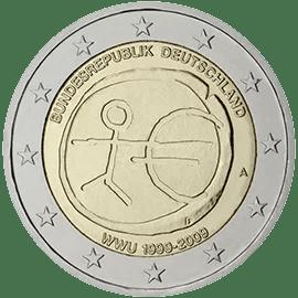 Moneda Conmemorativa de 2 Euros de Alemania 2009 - Conmemorativa Común por el 10 Aniversario de la Unión Económica y Monetaria