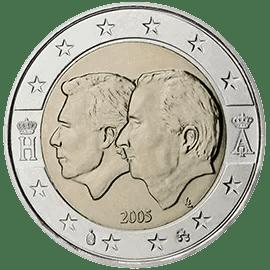 Moneda Conmemorativa de 2 Euros de Bélgica 2005 - Unión Económica Belgo-Luxemburguesa