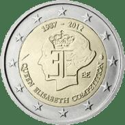 Moneda Conmemorativa de 2 Euros de Bélgica 2012 - 75 Aniversario del Concurso Musical Reina Isabel