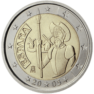 Moneda Conmemorativa de 2 Euros de España 2005 - Cuarto Centenario del Quijote