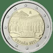 Moneda Conmemorativa de 2 Euros de España 2011 - Alhambra de Granada