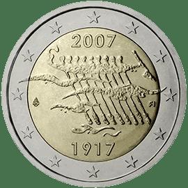 Moneda Conmemorativa de 2 Euros de Finlandia 2007 - 90 Años de la Independencia de Finlandia